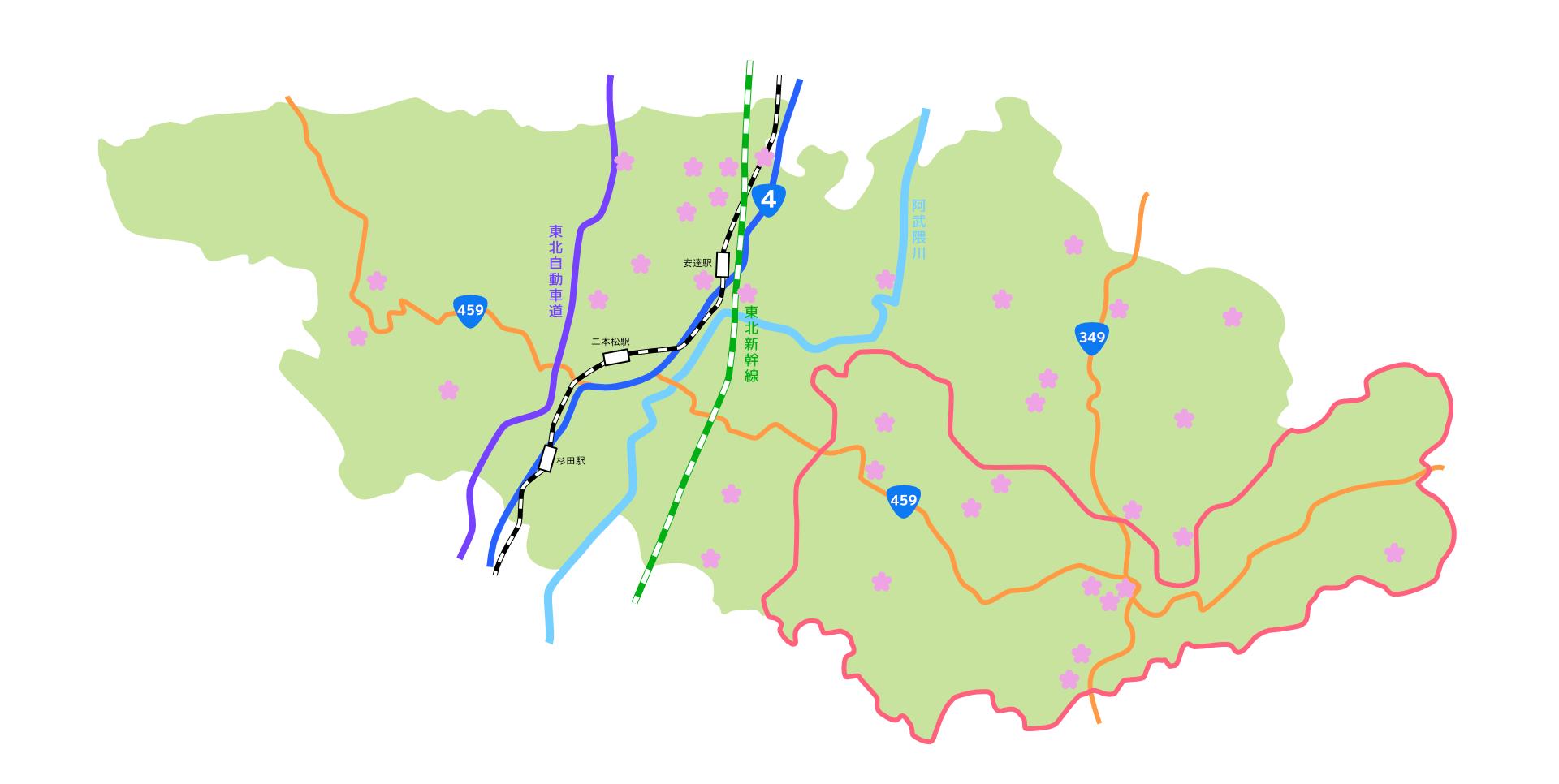 二本松桜マップ